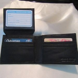 Other - New Men's Leather Wallet Black